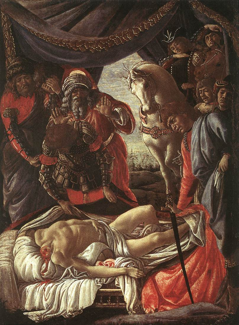 BOTTICELLI, Sandro The Discovery of the Murder of Holophernes bfg
