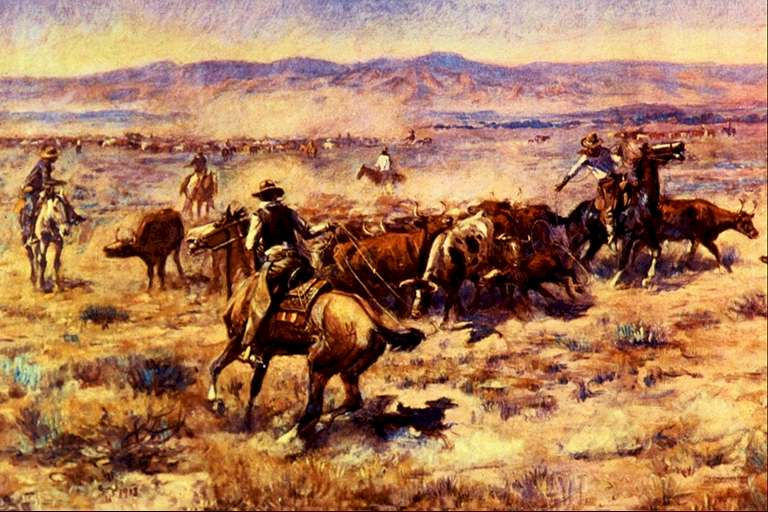 Charles M Russell The Round Up