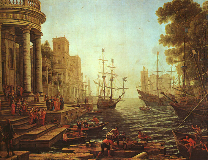 Claude Lorrain Seaport : The Embarkation of St.Ursula
