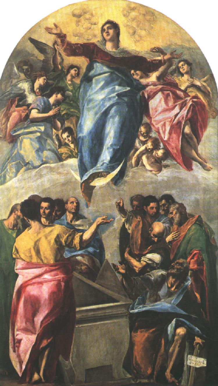 GRECO, El Assumption of the Virgin dfg