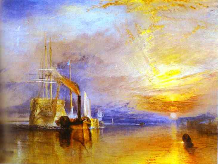 J.M.W. Turner Fighting Temeraire Tugged to Her Last Berth to Be Broken up