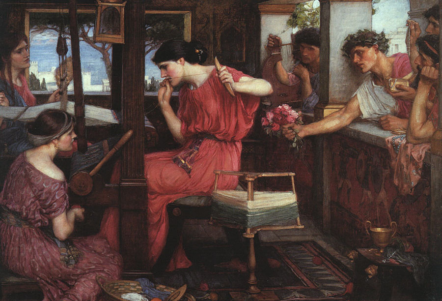 John William Waterhouse Penelope and the Suitors