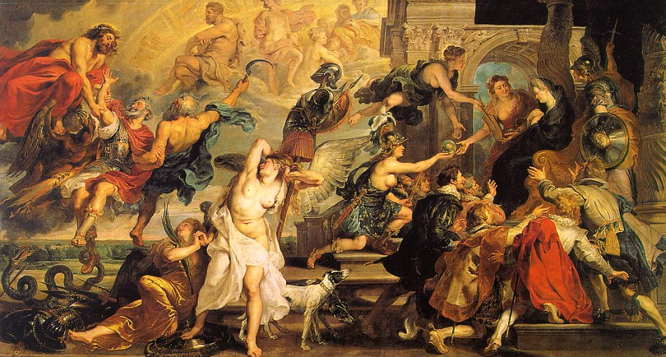 Peter Paul Rubens The Apotheosis of Henry IV and the Proclamation of the Regency of Marie de Medici on the 14th of May