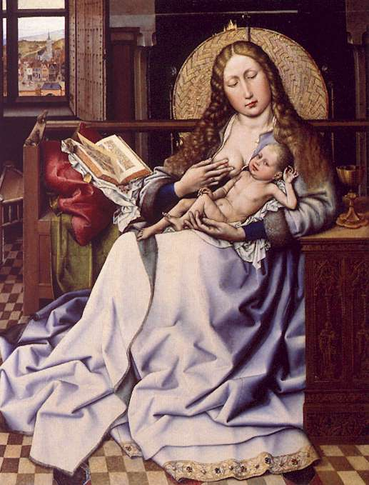 Robert Campin The Virgin and the Child Before a Fire Screen