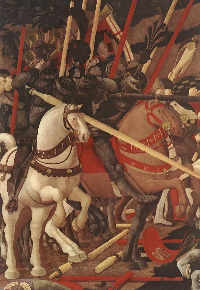 UCCELLO, Paolo Bernardino della Ciarda Thrown Off His Horse (detail) wt