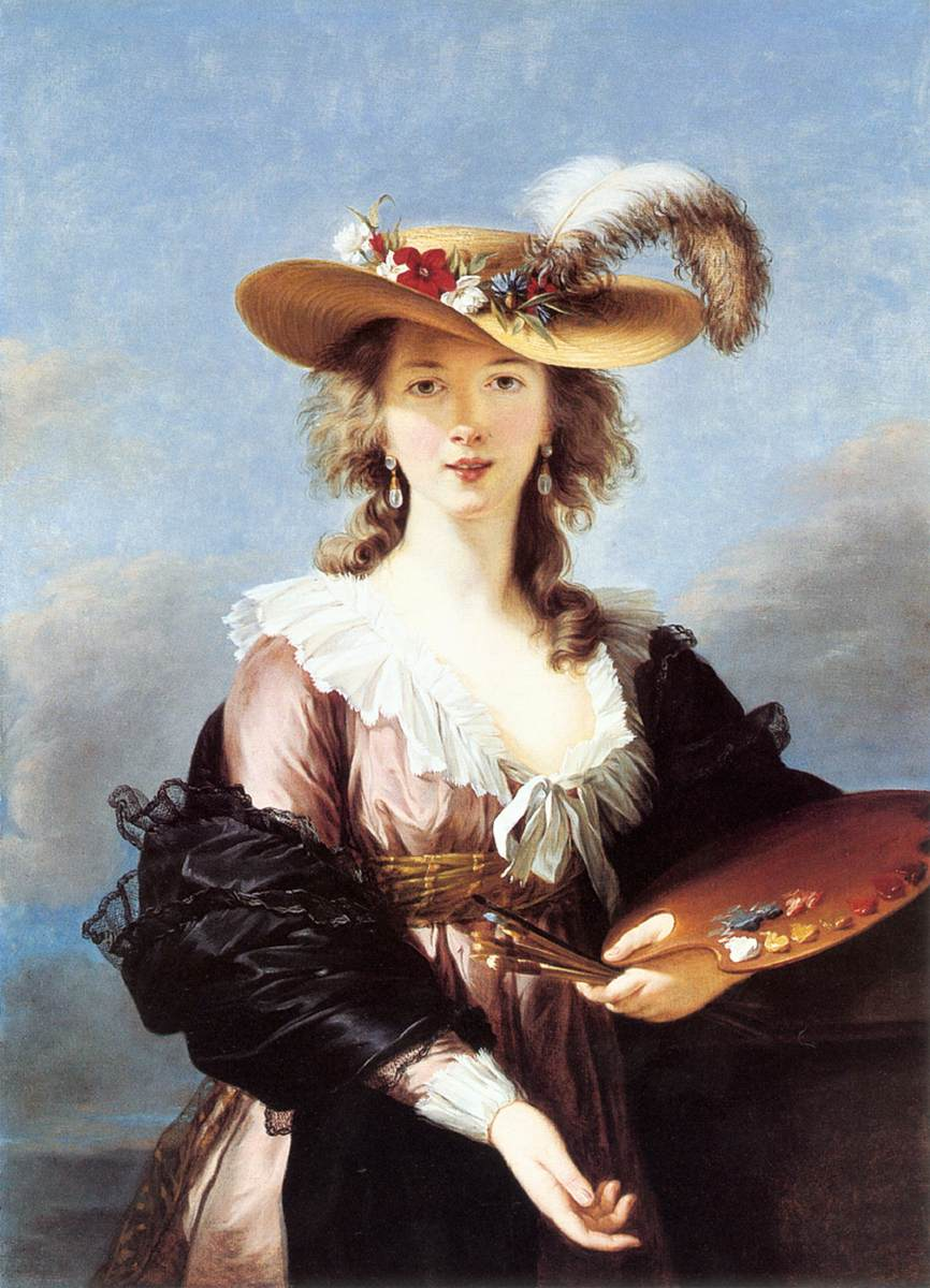 VIGEE-LEBRUN, Elisabeth Self-Portrait in a Straw Hat r