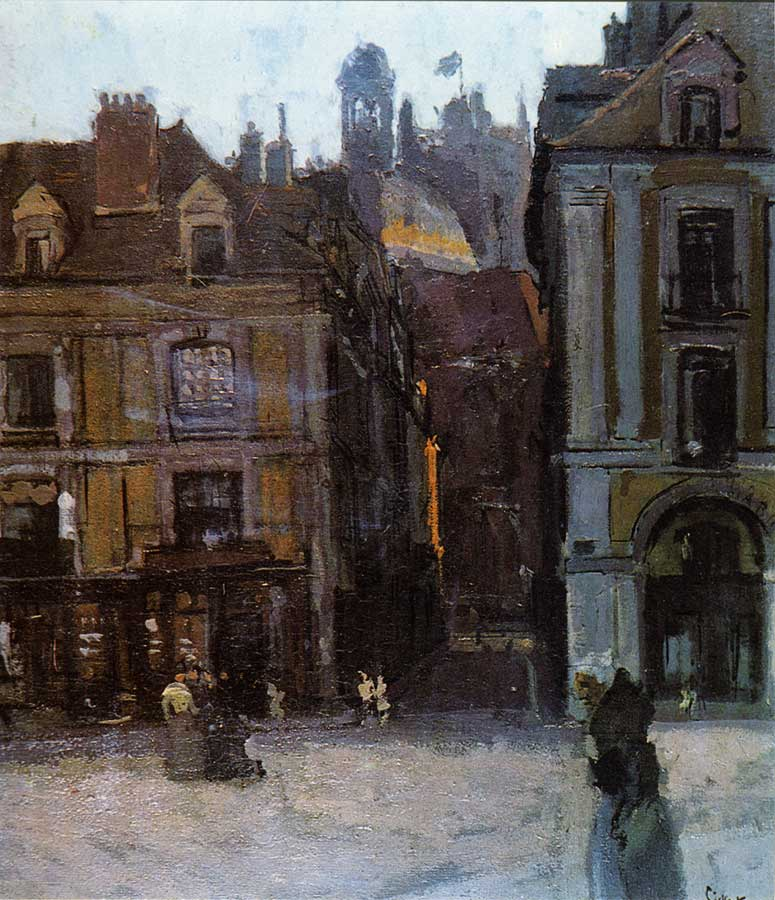 Walter Sickert The Quai Duquesne and the Rue Notre Dame, Dieppe