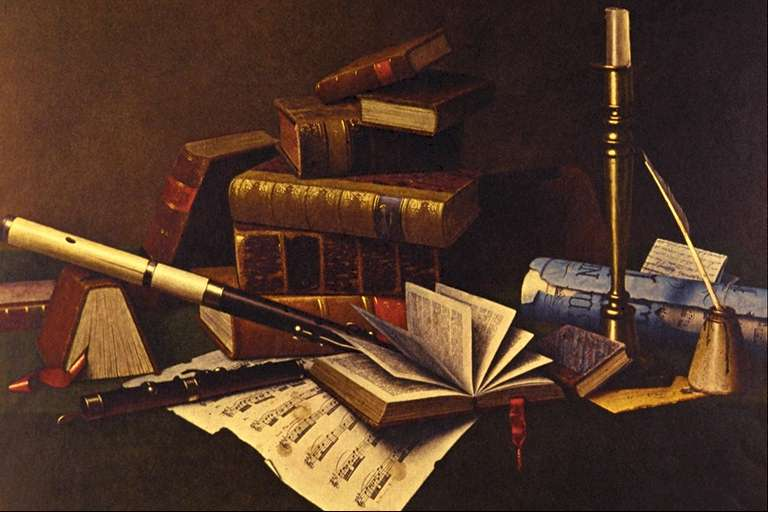 William Michael Harnett Music and Literature