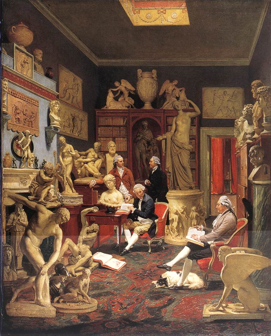 ZOFFANY  Johann Charles Towneley in his Sculpture Gallery