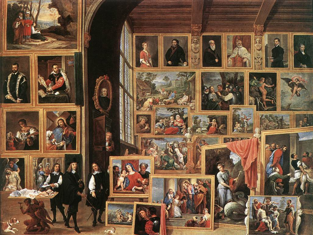TENIERS, David the Younger The Gallery of Archduke Leopold in Brussels