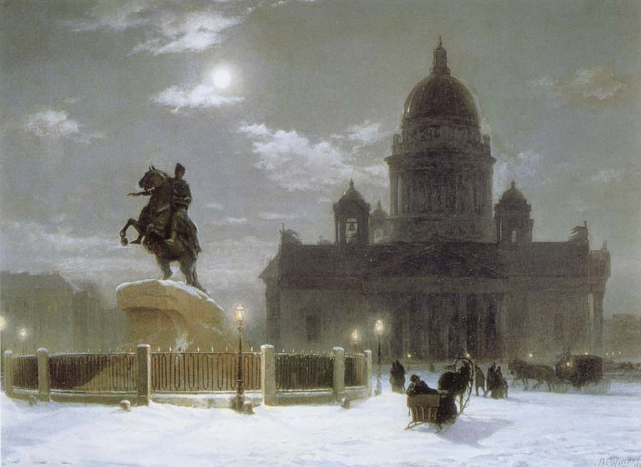 Vasily Surikov Monument to Peter the Great on Senate Squar in St.Petersburg