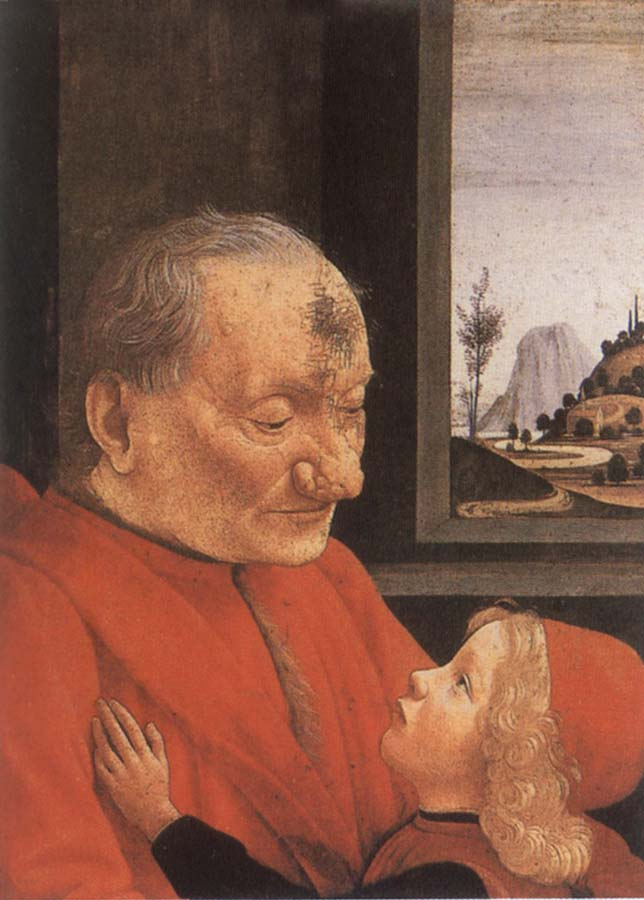 Domenico Ghirlandaio An Old man with his grandson