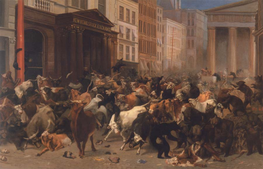 William Holbrook Beard Bulls and Bears in the Market