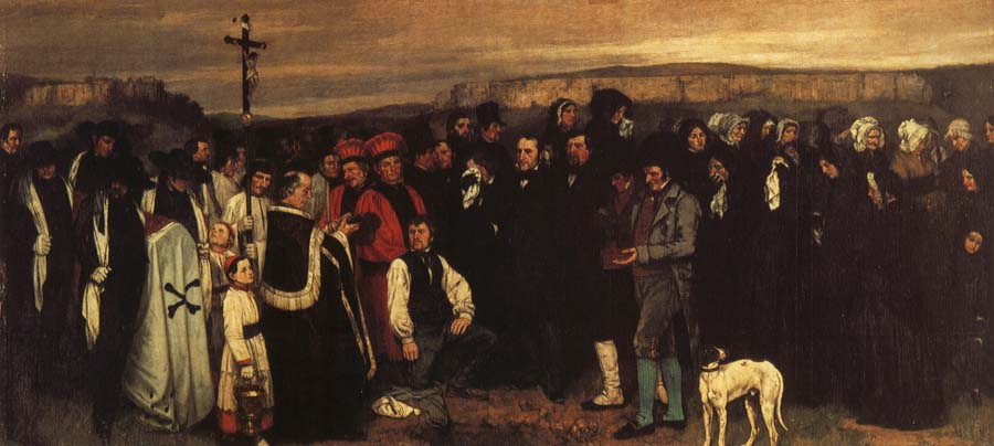 Gustave Courbet A Funeral in Ornans