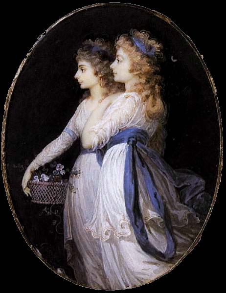 Jean Urbain Guerin Georgiana, Duchess of Devonshire, with Lady Elizabeth Foster
