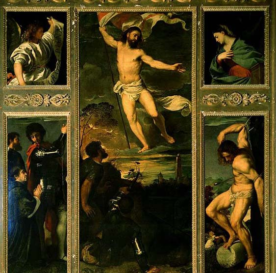 TIZIANO Vecellio Polyptych of the Resurrection