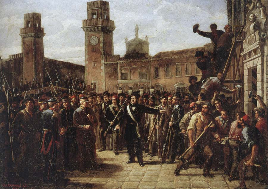 Vincenzo Giacomelli Daniele Manin and the Insurgents Capture the Arsenal