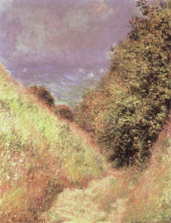 Claude Monet The Path at La Cavee at Pourville