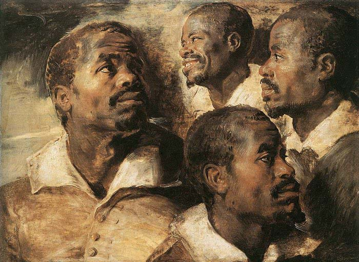 Peter Paul Rubens Four Studies of the Head of a Negro