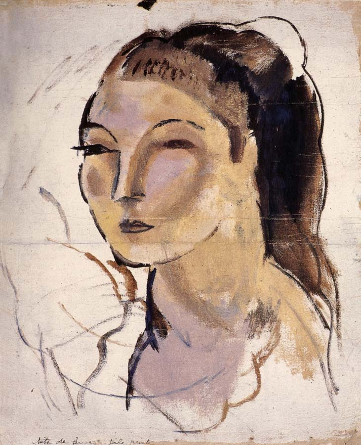 Jules Pascin Head portrait of woman