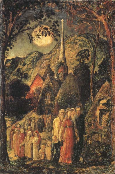 Samuel Palmer Coming from Evening Church