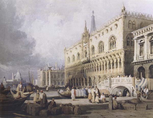 Samuel Prout The Doge s Palace and the Grand Canal,Venice (mk47)