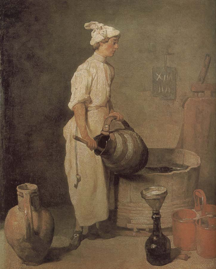 Jean Baptiste Simeon Chardin In the cellar of the boys to clean jar