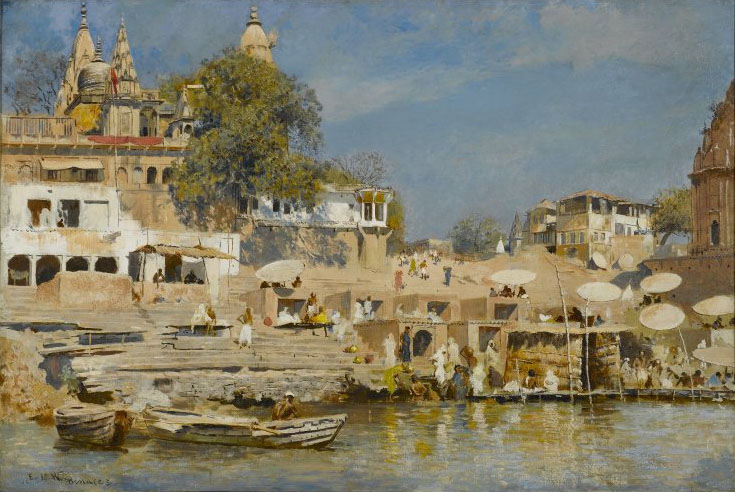 Edwin Lord Weeks Temples and Bathing Ghat at Benares
