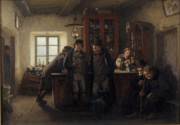 HOFFMANN, Hans Farmers in a Barrelhouse