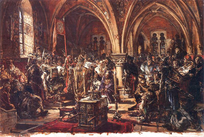 Jan Matejko The First Sejm in leczyca. Recording of laws. A.D. 1182.