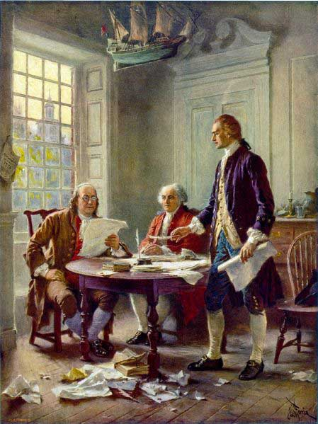 Jean Leon Gerome Ferris Writing the Declaration of Independence, 1776