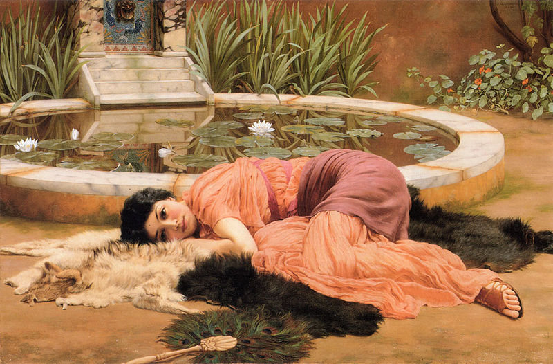 John William Godward Sweet Nothings by Godward
