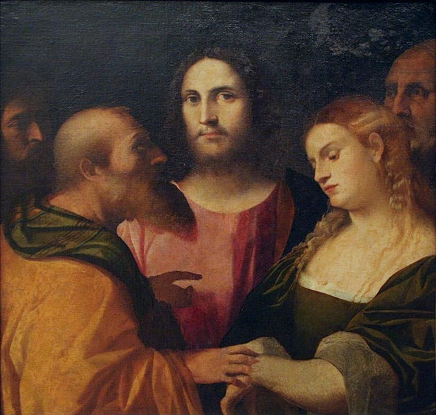 Palma il Vecchio Christ and the Adulteress