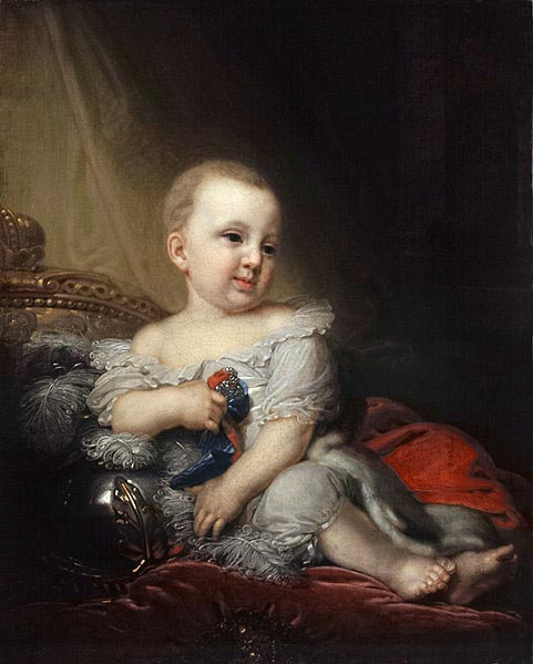 Vladimir Lukich Borovikovsky Portrait of Nicholas of Russia as a child
