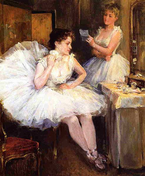 Willard Leroy Metcalf The Ballet Dancers aka The Dressing Room