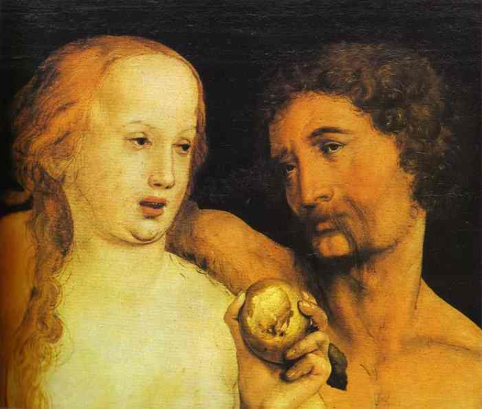 Hans holbein the younger Adam and Eve
