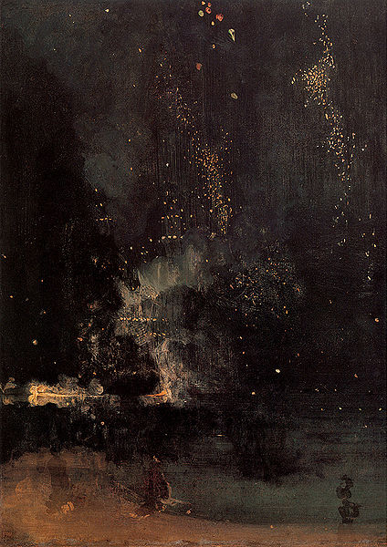 James Abbott McNeil Whistler Nocturne in Black and Gold The Falling Rocket