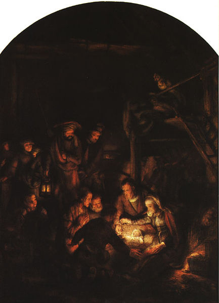 REMBRANDT Harmenszoon van Rijn Adoration of the Shepherds