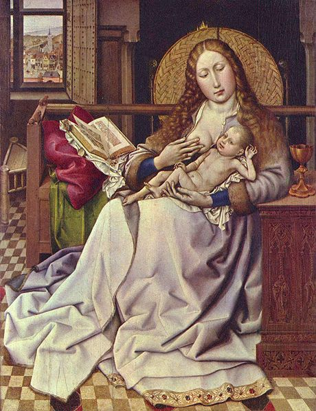 Robert Campin The Virgin and Child in an Interior