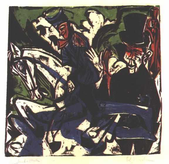 Ernst Ludwig Kirchner Schlemihls entcounter with small grey man