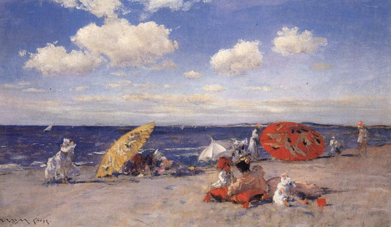 William Merrit Chase At the Seaside