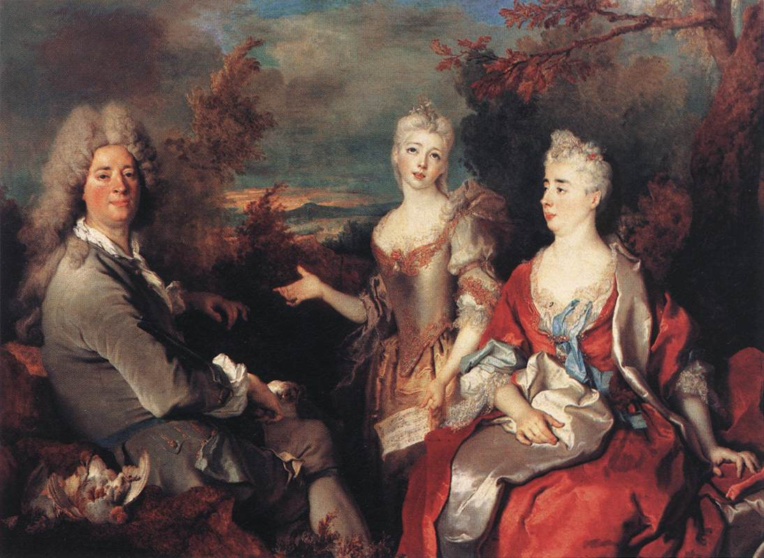 Nicolas de Largilliere The Artist and his Family
