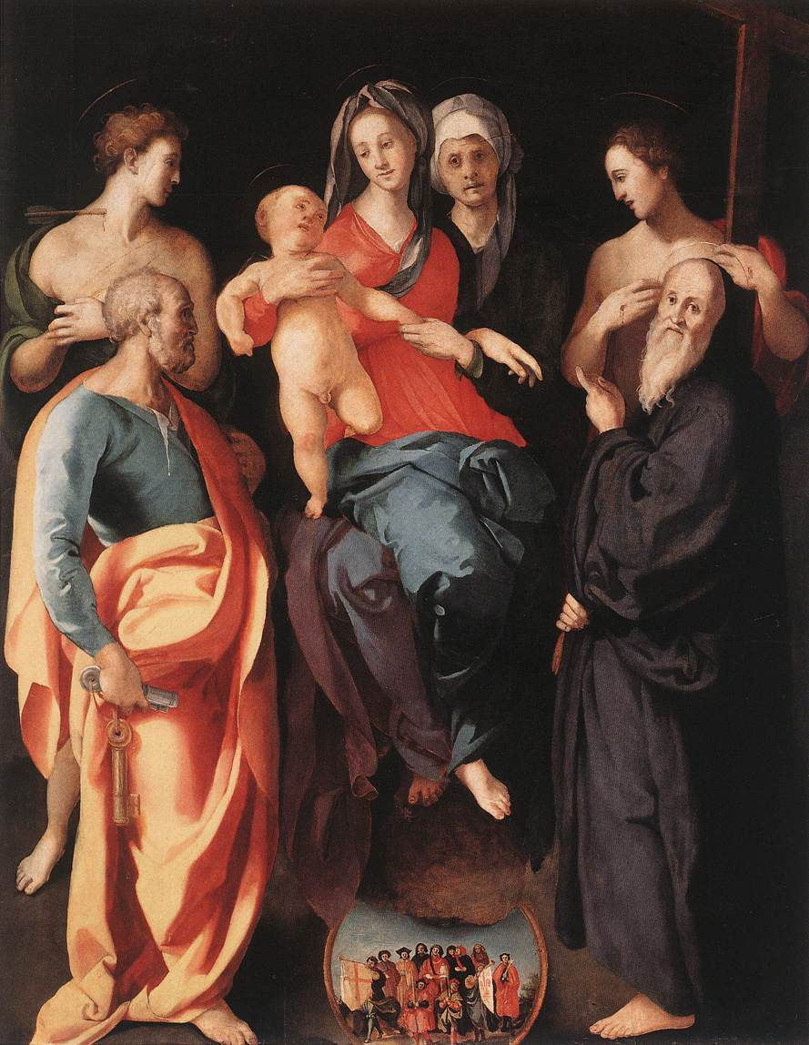 Pontormo, Jacopo Madonna and Child with St Anne and Other Saints