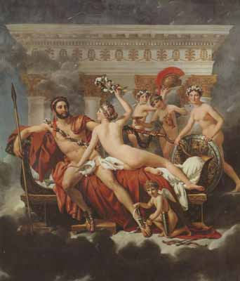 Jacques-Louis David Mars disarmed by venus and the three graces (mk02)