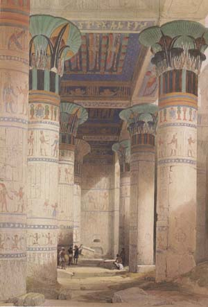 Alma-Tadema, Sir Lawrence David Roberts,Portico of the Temple of Isis at Philae (mk23)