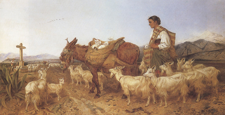 Richard ansdell,R.A. Going to Market (mk37)
