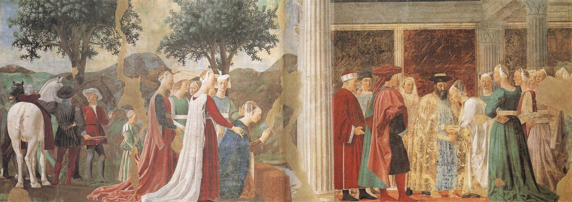 a literary analysis of francesco del cossas meeting of solomon and the queen of sheba Queen of sheba's wiki: the queen of sheba was the queen of egypt and hence sheba's meeting with solomon bearing rich gifts foreshadowed the adoration of.