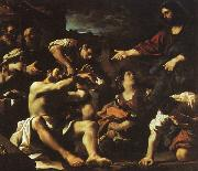 Giovanni Francesco  Guercino The Raising of Lazarus oil painting reproduction