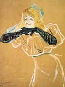 Henri  Toulouse-Lautrec Yvette Guilbert oil painting reproduction