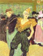 Henri  Toulouse-Lautrec Clowness Cha-u-Kao oil painting reproduction